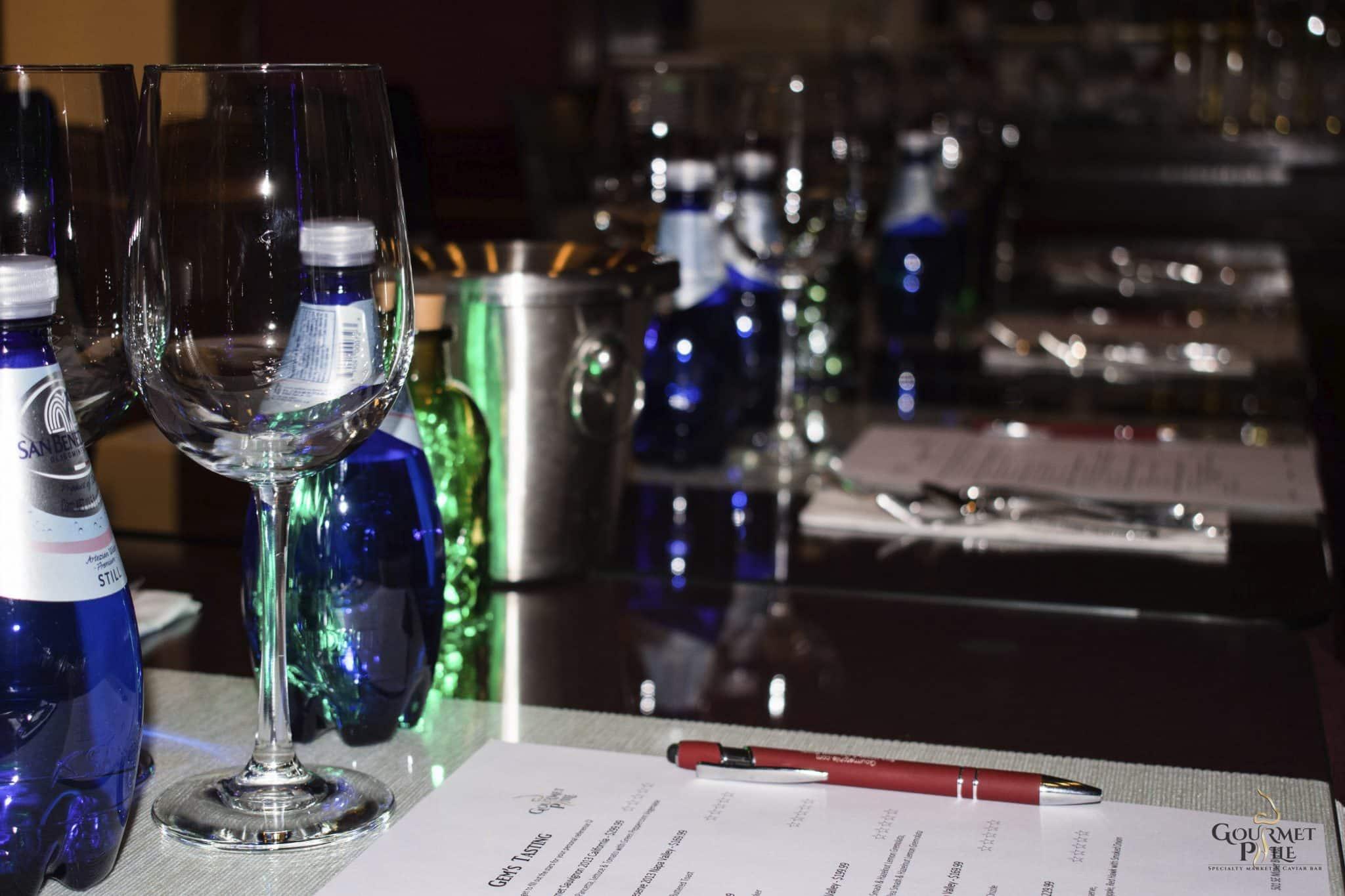 Wine Tasting Set-Up at Gourmetphile